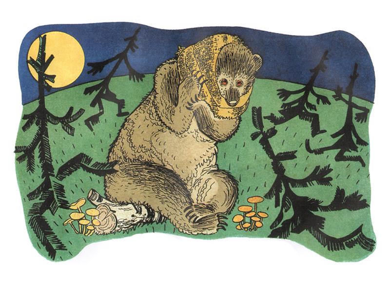 рисунки медведя с медом