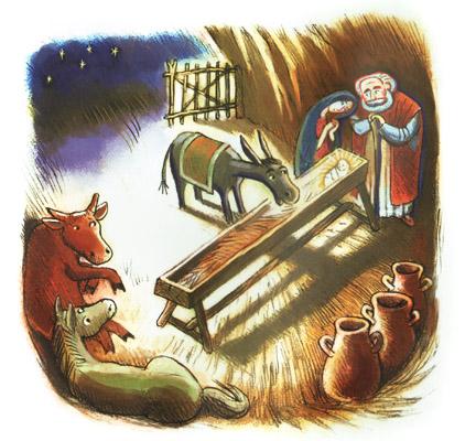 Иллюстрация Юрия Пронина к книге Майи Кучерской «Библия для детей»