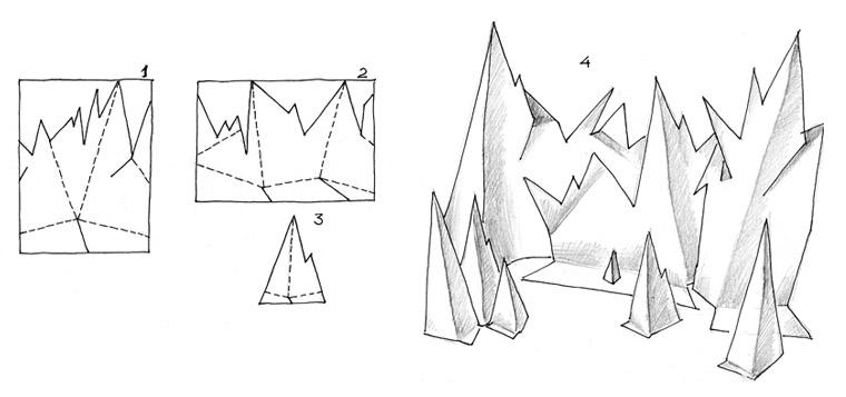 Маникюр с геометрическими фигурами. Рисунок квадратики 72