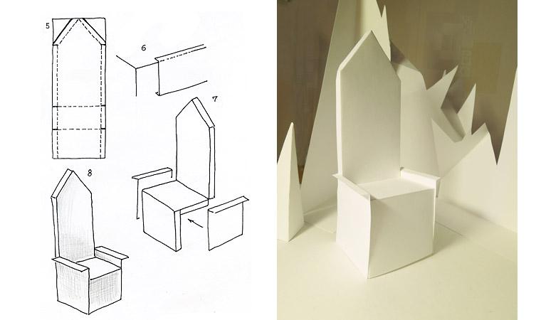 Как сделать трон своими руками из бумаги
