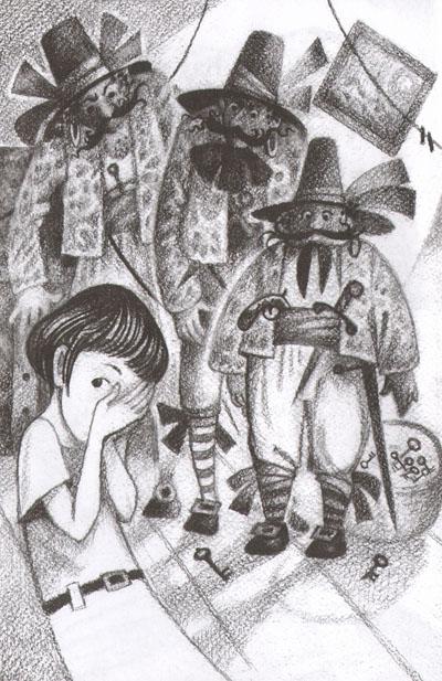Иллюстрация Натальи Салиенко к сказке Фрэнка баума «Сундук с разбойниками»