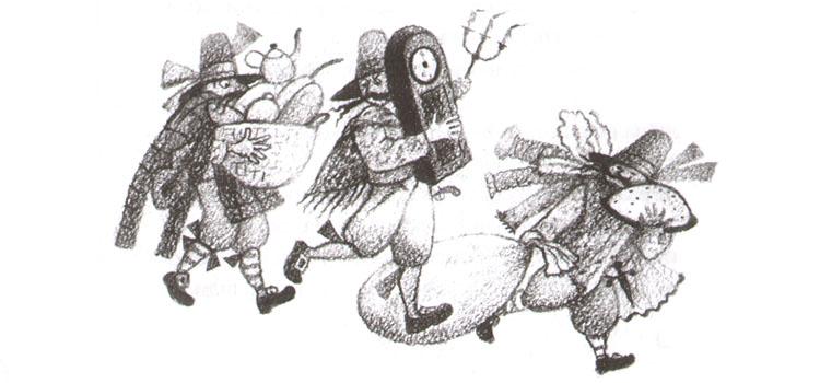 1 Иллюстрация Натальи Салиенко к сказке Фрэнка баума «Сундук с разбойниками»