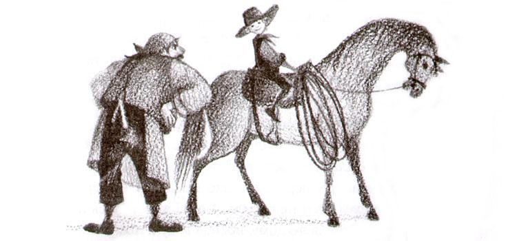 Иллюстрация Натальи Салиенко к сказке Фрэнка Баума «Дедушка-Время»
