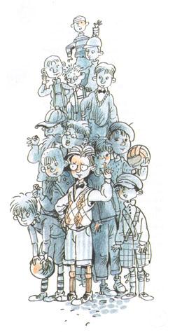 1 Иллюстрация Евгении Двоскиной к книге Эриха Кёстнера «Эмиль и сыщики»