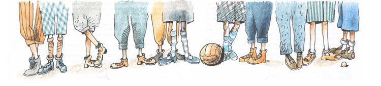 2 Иллюстрация Евгении Двоскиной к книге Эриха Кёстнера «Эмиль и сыщики»