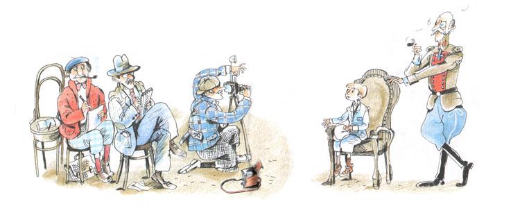 3 Иллюстрация Евгении Двоскиной к книге Эриха Кёстнера «Эмиль и сыщики»