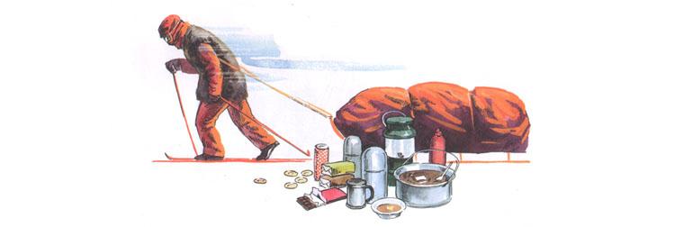 Иллюстрация Артёма Безменова к книге Фёдора Конюхова «Как я стал путешественником»