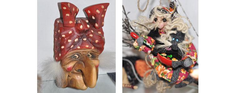 Фигурки Бабы Яги из коллекции Игоря Вачкова