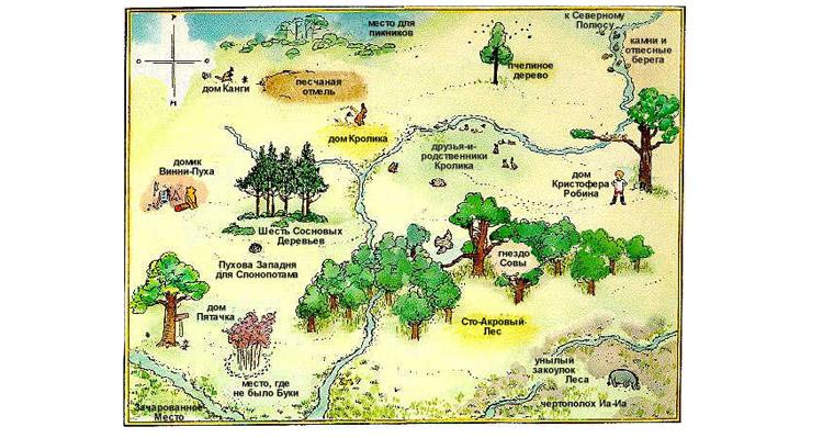 Карта страны Винни Пуха