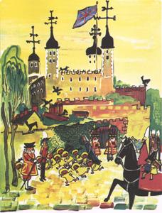 Иллюстрация Людвига Бемельманса к книге «Мадлен в Лондоне»