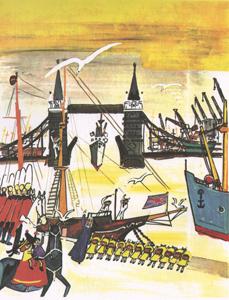 2 Иллюстрация Людвига Бемельманса к книге «Мадлен в Лондоне»