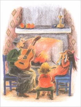 2 Иллюстрация Илон Викланд к книге Астрид Линдгрен «Как Лисабет засунула в нос горошину»