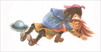 5 Иллюстрация Илон Викланд к книге Астрид Линдгрен «Как Лисабет засунула в нос горошину»