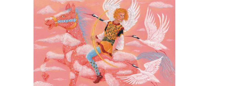 Иллюстрация Анны Юдиной к книге Джорджа Макдональда «Мальчик дня и девочка ночи»