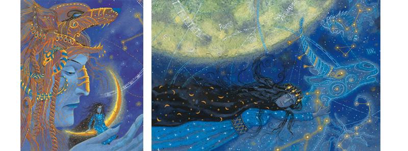 1 Иллюстрации Анны Юдиной к книге Джорджа Макдональда «Мальчик дня и девочка ночи»