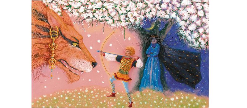 2 Иллюстрация Анны Юдиной к книге Джорджа Макдональда «Мальчик дня и девочка ночи»