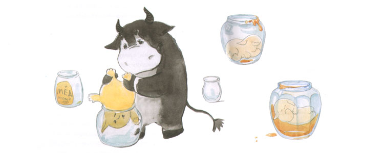 Иллюстрация Елены Кубышевой к книге Ирины и Леонида Тюхтяевых «Зоки и Бада»