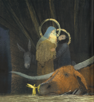 Иллюстрация Игоря Олейникова к книге Жюля Сюпервьеля «Вол и Осел при яслях»