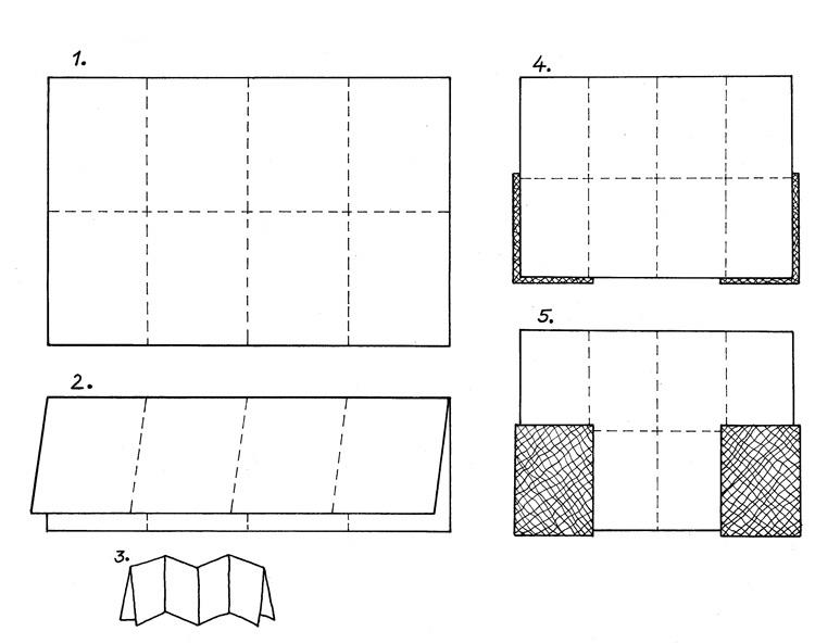 схема изготовления книги-лепорелло