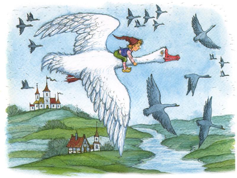 Картинки из книги нильс с дикими гусями
